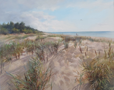 """Painting titled """"Afternoon at Kosrags"""" by Janis Zingitis, Original Art, Oil Mounted on Stretcher frame"""