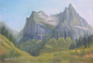 """Painting titled """"Spring in the Valley"""" by Jmcd Art, Original Art, Oil"""
