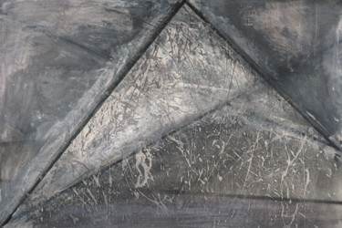 """Drawing titled """"palimpsest"""" by John Chan, Original Art, Charcoal Mounted on Stretcher frame"""