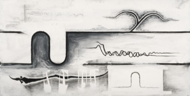 """Drawing titled """"Variations on the L…"""" by John Chan, Original Art, Charcoal Mounted on Stretcher frame"""