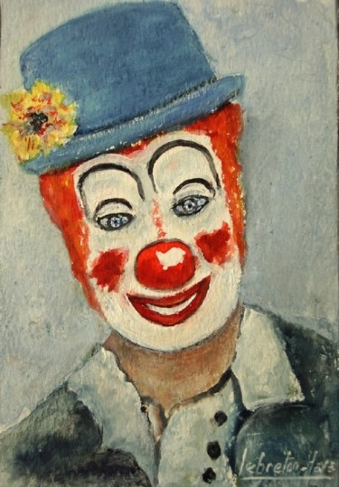 le clown aquarelle  lebreton