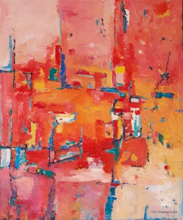 Abstract Painting, oil, abstract, artwork by Jeanmarchapelet
