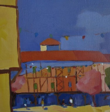 """Painting titled """"Mirepoix"""" by Jean-Noël Le Junter, Original Art, Oil Mounted on Stretcher frame"""