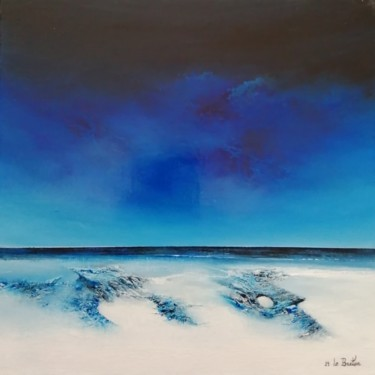 """Painting titled """"Le rivage"""" by Jean-Yves Le Breton, Original Art, Oil Mounted on Stretcher frame"""