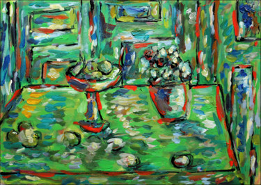 """Painting titled """"Table"""" by Jean Mirre, Original Art, Oil"""