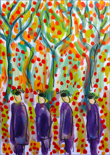 """Painting titled """"Strawberry Fields1"""" by Jean Mirre, Original Art, Oil"""