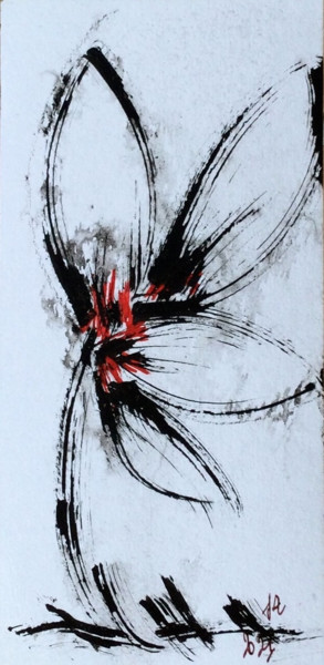 """Drawing titled """"NYMPHE"""" by Jeannette Allary, Original Art, Oil"""