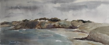 Beach Painting, watercolor, figurative, artwork by Jeannette Giannini