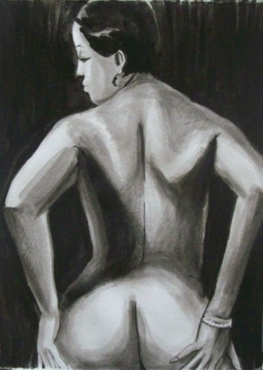 """Painting titled """"Stunning Nude Femal…"""" by Jeff Sterling, Original Art, Oil"""
