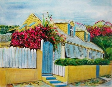 """Painting titled """"Florida Vacation Ho…"""" by Jeff Sterling, Original Art, Oil"""