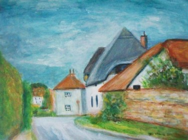 """Painting titled """"Cotswold Village -…"""" by Jeff Sterling, Original Art, Oil"""