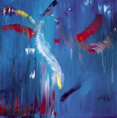 """Painting titled """"love birds"""" by Marco Brown, Original Art,"""