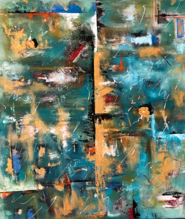 """Painting titled """"Abstract"""" by Jelena Linda Andjelkovic, Original Art, Oil"""