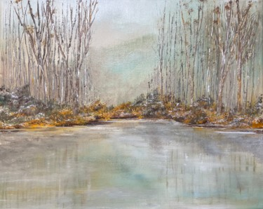 Landscape Painting, oil, conceptual art, artwork by Joan Reilly
