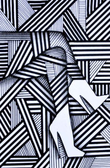 Drawing, marker, abstract, artwork by Jerzy Jaworski