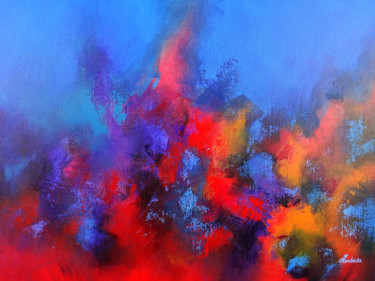 Seascape Painting, acrylic, abstract, artwork by Jessica Hendrickx