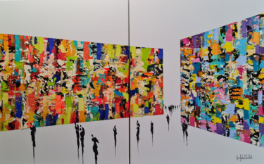 """Painting titled """"VERNISSAGE 2021"""" by Jean-Humbert Savoldelli, Original Art, Acrylic Mounted on Stretcher frame"""