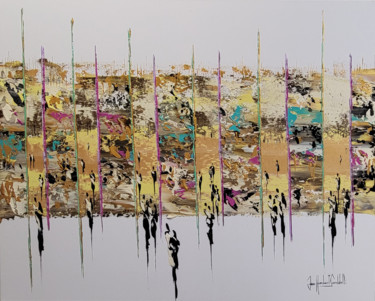 """Painting titled """"ORPAILLEURS"""" by Jean-Humbert Savoldelli, Original Art, Acrylic Mounted on Stretcher frame"""