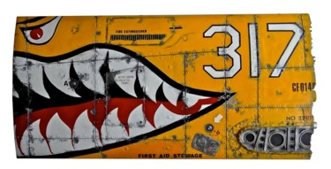 """Sculpture titled """"FLYING TIGERS ON YE…"""" by Jerome Chauvin (JICE), Original Art, Acrylic"""
