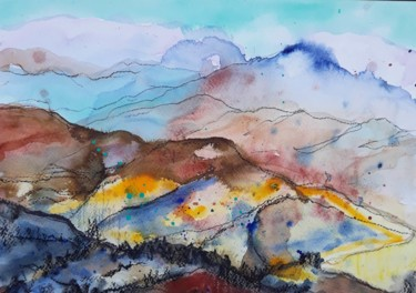 Painting, ink, abstract, artwork by Jill Carrott