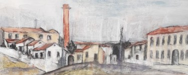 Architecture Painting, charcoal, illustration, artwork by Jill Carrott