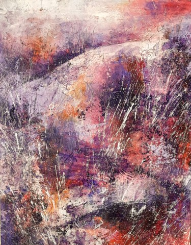 Mountainscape Painting, acrylic, abstract, artwork by Jill Carrott