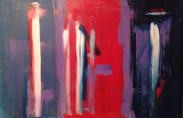 """Painting titled """"Purple and red"""" by Jill Midthune, Original Art, Acrylic"""