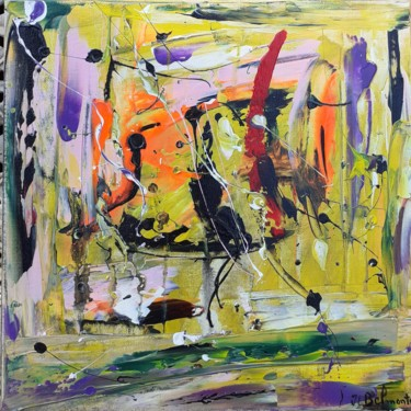 Painting, acrylic, abstract, artwork by Jean Louis Belmonte
