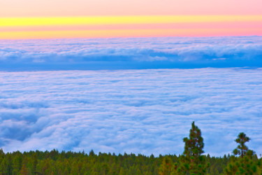 """Photography titled """"ABOVE THE CLOUDS"""" by Jean-Luc Bohin, Original Art,"""
