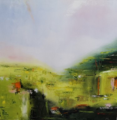 Landscape Painting, oil, abstract, artwork by Jean-Michel Roger