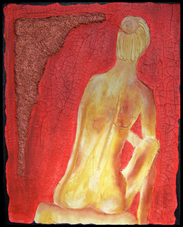 """Painting titled """"Bella Rosso"""" by Jo Moore, Original Art, Oil"""