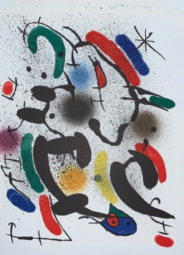 13.4x10.2 in ©1972 by Joan Miro