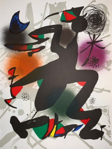 13.4x10.2 in ©1977 by Joan Miro