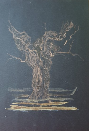Tree Drawing, collages, illustration, artwork by Joana Bisquert Mari