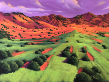 """Painting titled """"Hills and Valleys"""" by Joe A. Oakes, Original Art, Acrylic"""