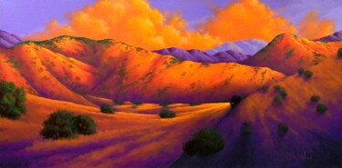 """Painting titled """"Just Around the Bend"""" by Joe A. Oakes, Original Art, Acrylic"""