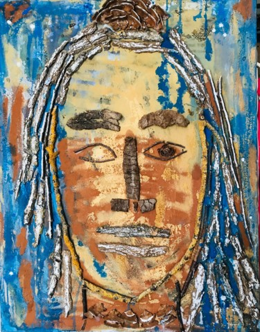 Portrait Painting, collages, outsider art, artwork by Joëlle Dubois