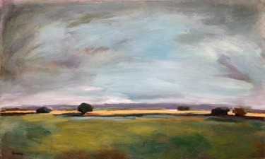 """Painting titled """"Crépuscule"""" by Johanne Spinella, Original Art, Acrylic"""