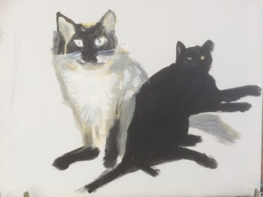 """Painting titled """"Cats.jpg"""" by Torquil, Original Art, Acrylic"""