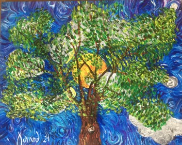 """Painting titled """"""""Here comes the sun"""""""" by François Jornod, Original Art, Acrylic"""