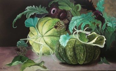"""Painting titled """"Melons"""" by Josy Chatain, Original Art, Oil"""