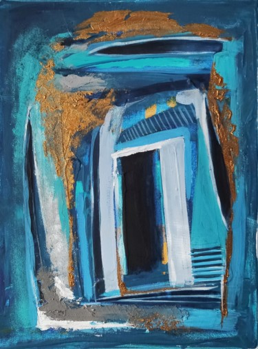 """Painting titled """"Towards The Core"""" by Jovana Pestoric, Original Art, Acrylic Mounted on Cardboard"""