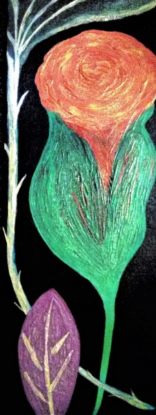 Flower Painting, acrylic, classicism, artwork by Jmsbell