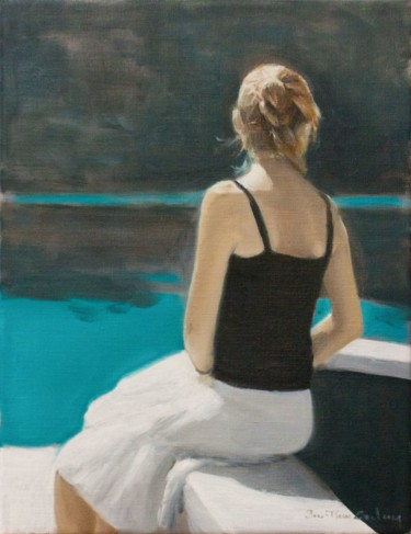 Painting, oil, figurative, artwork by Jean-Pierre André Leclercq