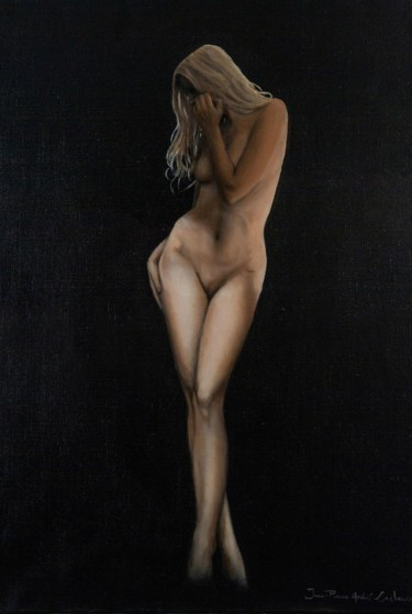 """Painting titled """"Silhouette"""" by Jean-Pierre André Leclercq, Original Art, Oil"""