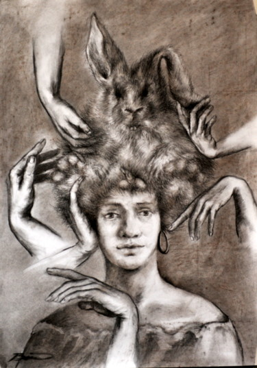 """Drawing titled """"designed-hairdo-for…"""" by Biro, Original Art,"""
