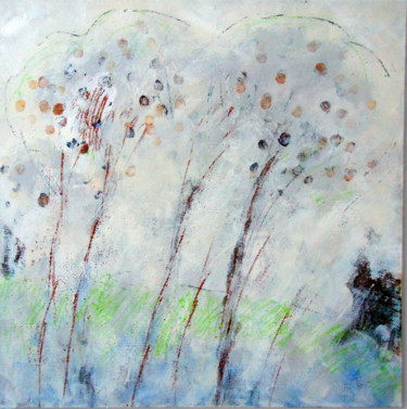 Landscape Painting, acrylic, abstract, artwork by June Stapleton