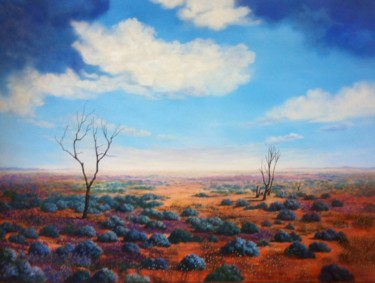 """Painting titled """"Mount Gipps Landsca…"""" by Judy Pickering, Original Art, Acrylic"""