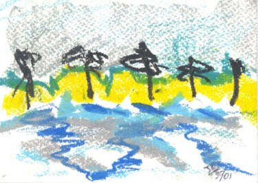 """Painting titled """"palm trees"""" by Juli Southmayd, Original Art,"""