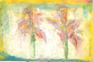 """Painting titled """"2 Palm Trees"""" by Juli Southmayd, Original Art,"""
